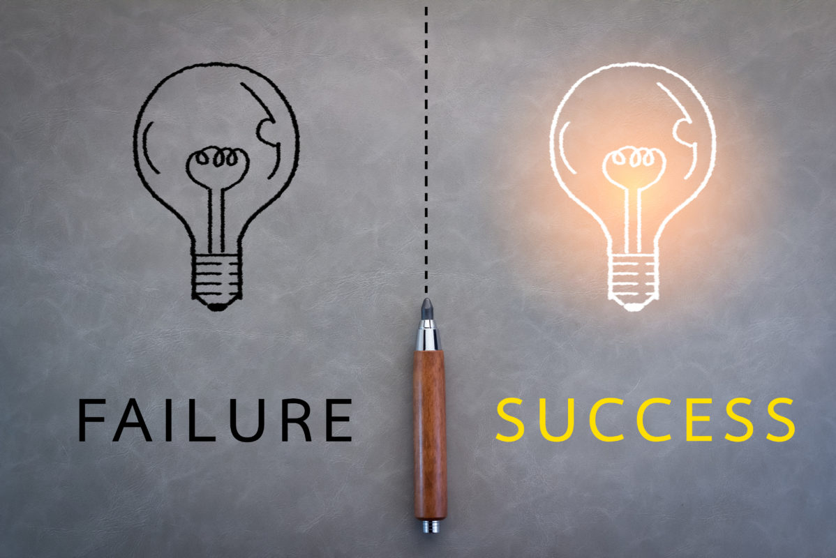 failure or success business concept